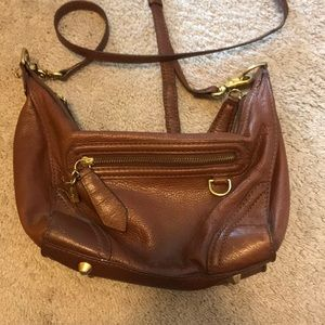 Foley + Corinna brown leather crossbody bag